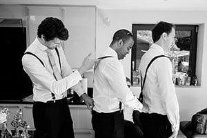 Surrey wedding photography - documentary photography - groomsmen getting ready