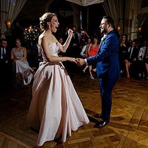 wedding photography flash lighting at reception