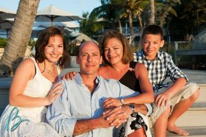 A family portrait session at Ocean Club, Turks and Caicos