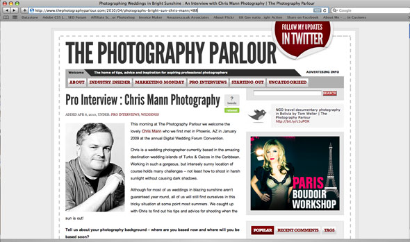 My interview on The Photography Parlour blog