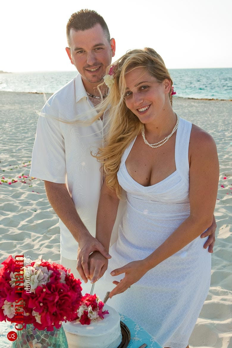 Turks & Caicos beach wedding