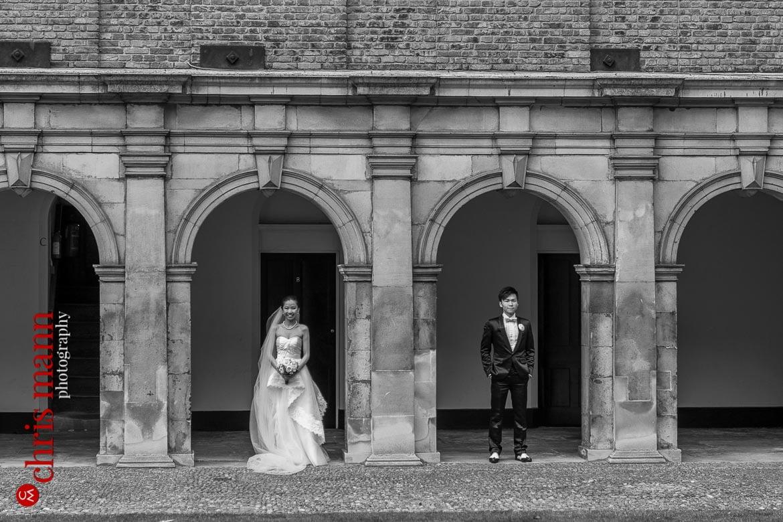 Cambridge pre-wedding shoot inside St. John's College
