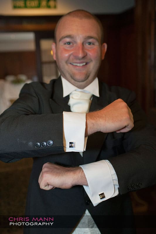 Paul and his cufflinks - photo by Chris Mann Photography