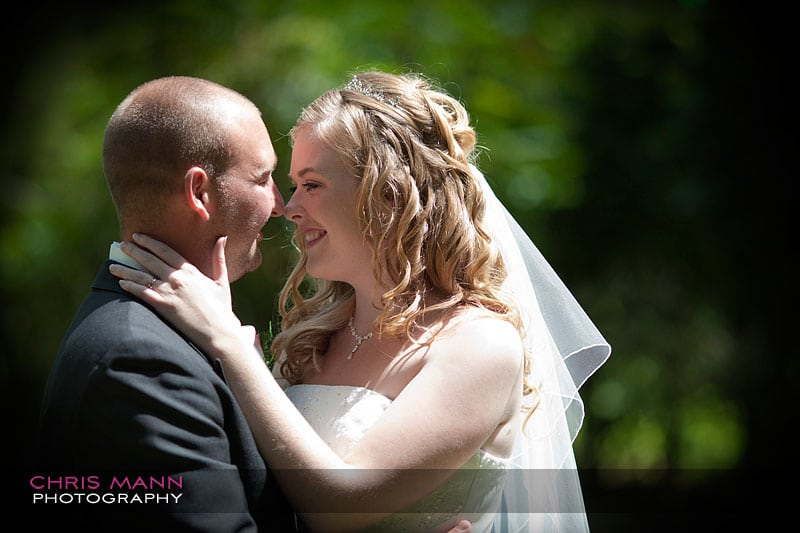 a happy smile - Libby and Paul's wedding at Cisswood House - photo by Chris Mann Photography