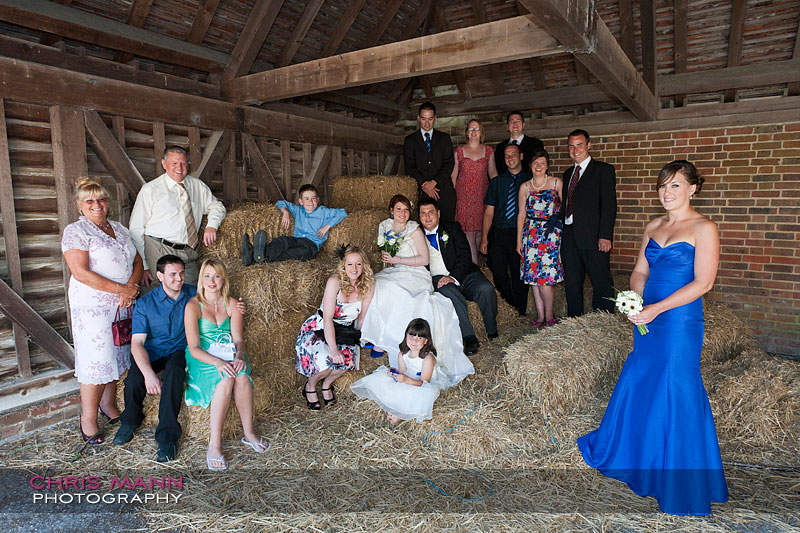 Kimberley & Richard at Bentley - bridal party in outbuilding