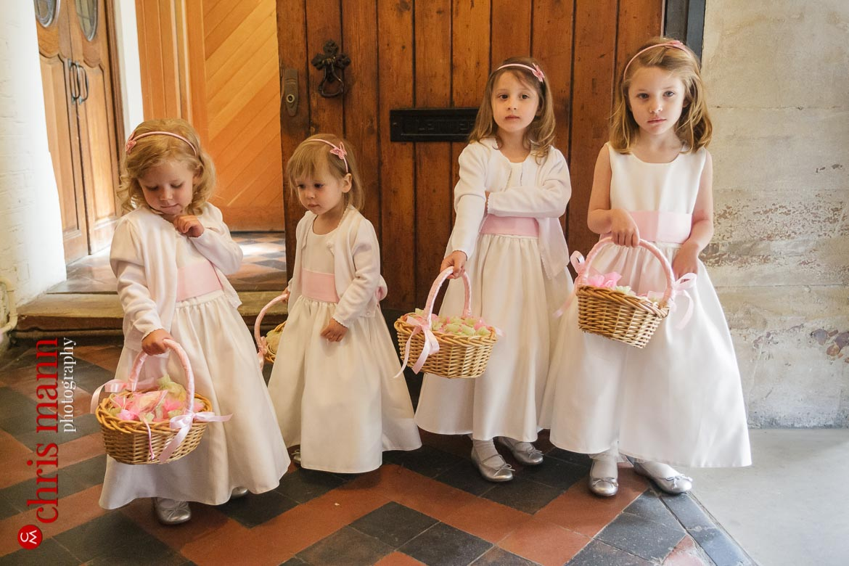 bridesmaids at St George's Church Campden Hil London