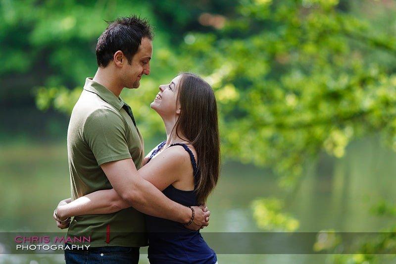 Daniel and Susie's engagement shoot at Danbury Lakes