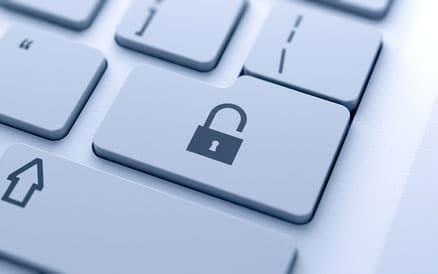 Privacy policy - lock button