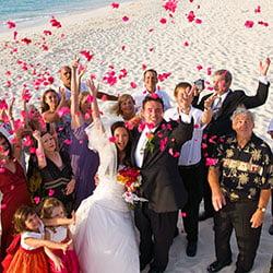 beach confetti throw