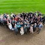 Gosfield Hall Essex group photo on terrace