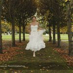 bride in Thornton Manor lime walk