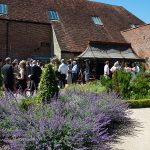 walled garden at cowdray lavender beds
