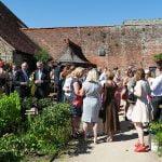 walled garden at cowdray wedding reception