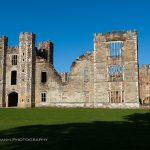 cowdray manor ruins wide view