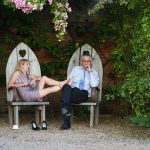 walled garden at cowdray guests relaxing