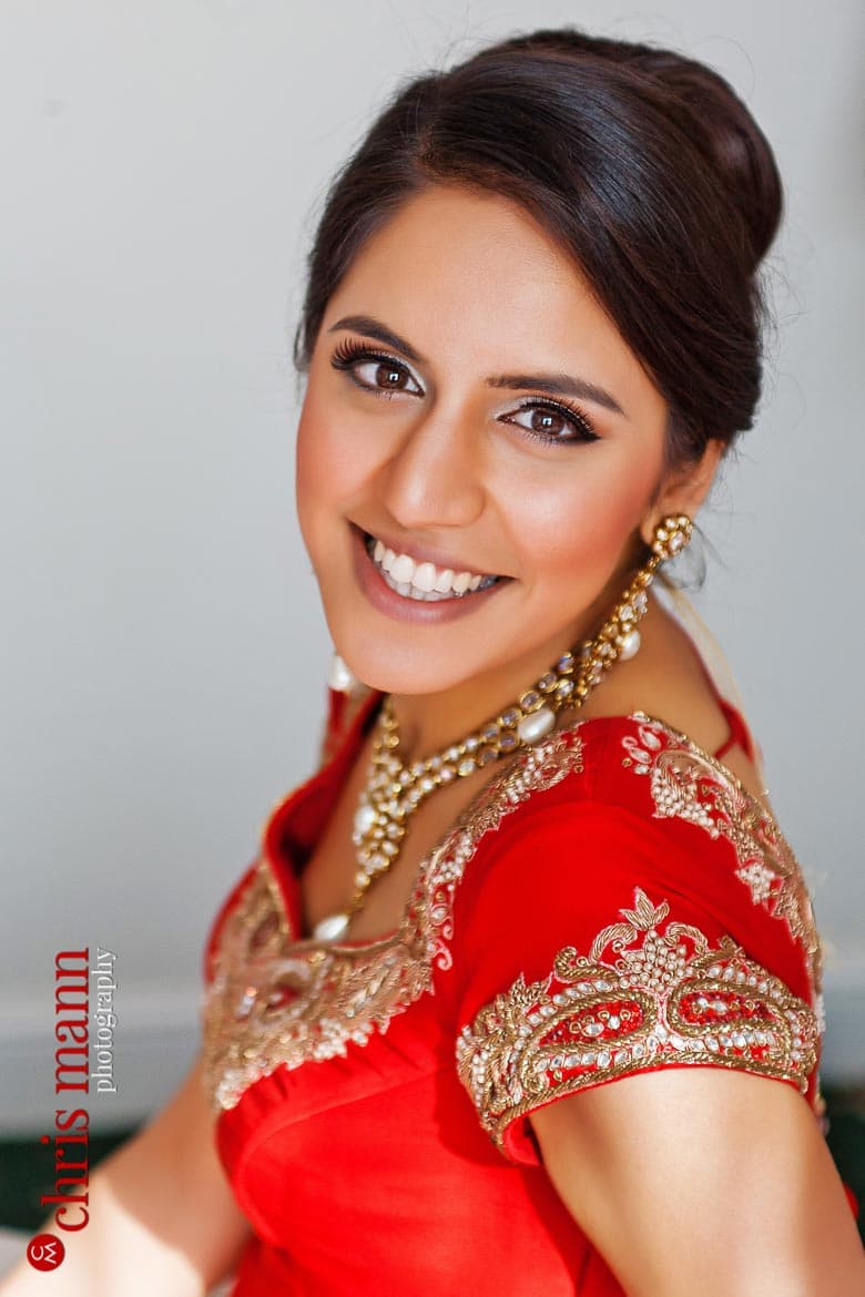 beautiful Sikh bride Harpreet pictured at home