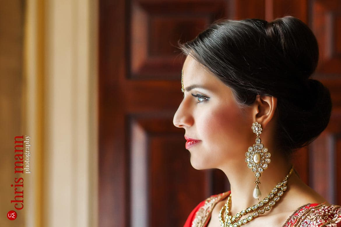 bride looking out of window Syon House London