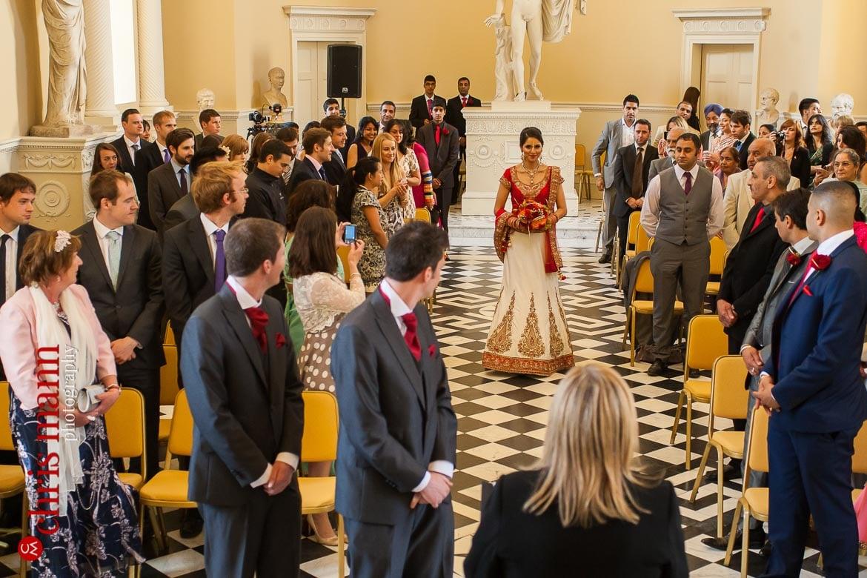 Syon Park wedding bride walks down aisle Syon House London civil ceremony
