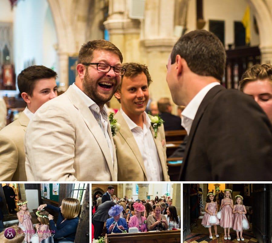 church wedding st nicolas cranleigh