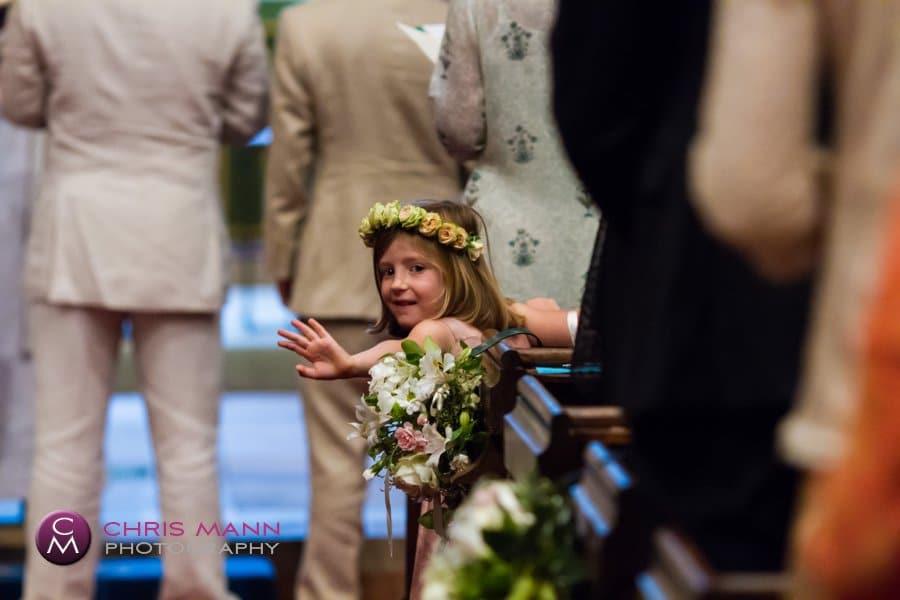 flower girl church wedding st nicolas cranleigh surrey