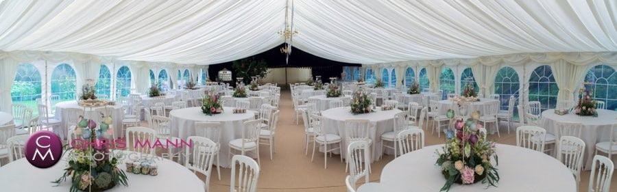 wedding marquee interior surrey