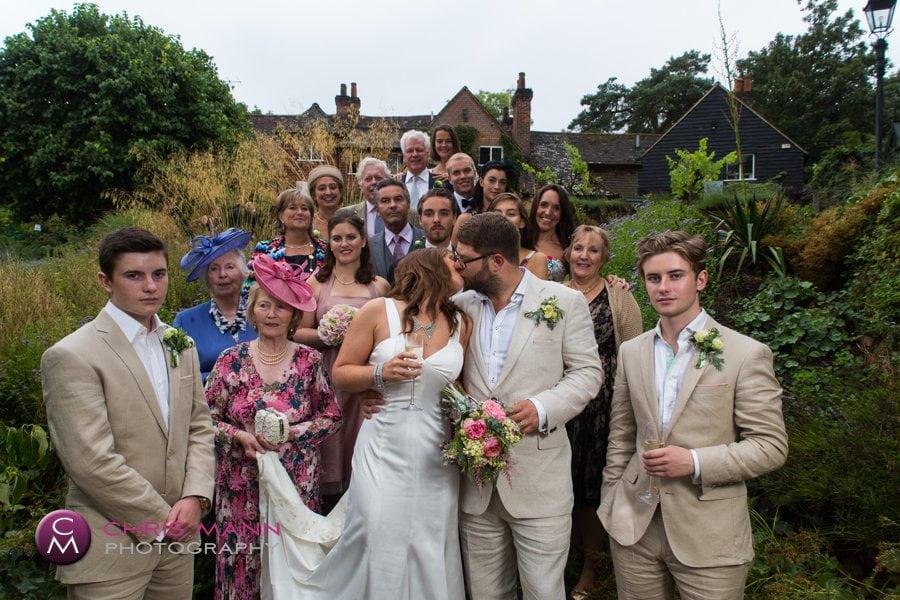 family group photo surrey wedding