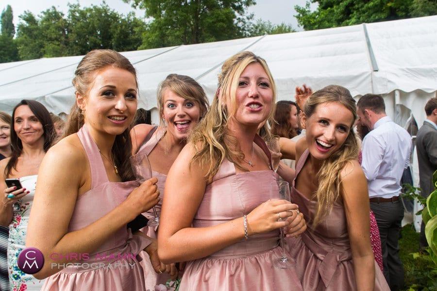 bridesmaids surrey marquee wedding