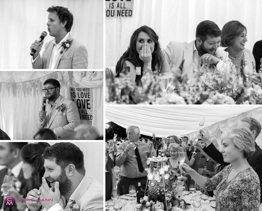 speeches marquee wedding reception surrey