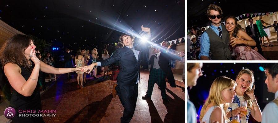 dancing guests having fun marquee wedding surrey