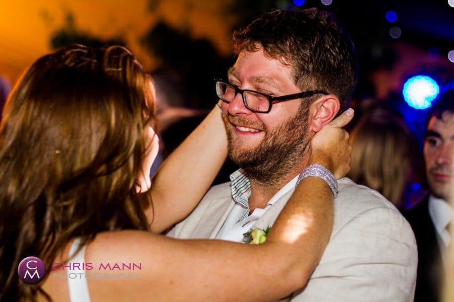 happy couple dancing wedding reception dancefloor