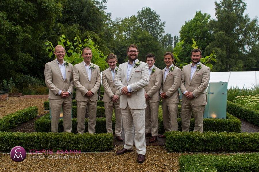 groom with groomsmen cranleigh wedding