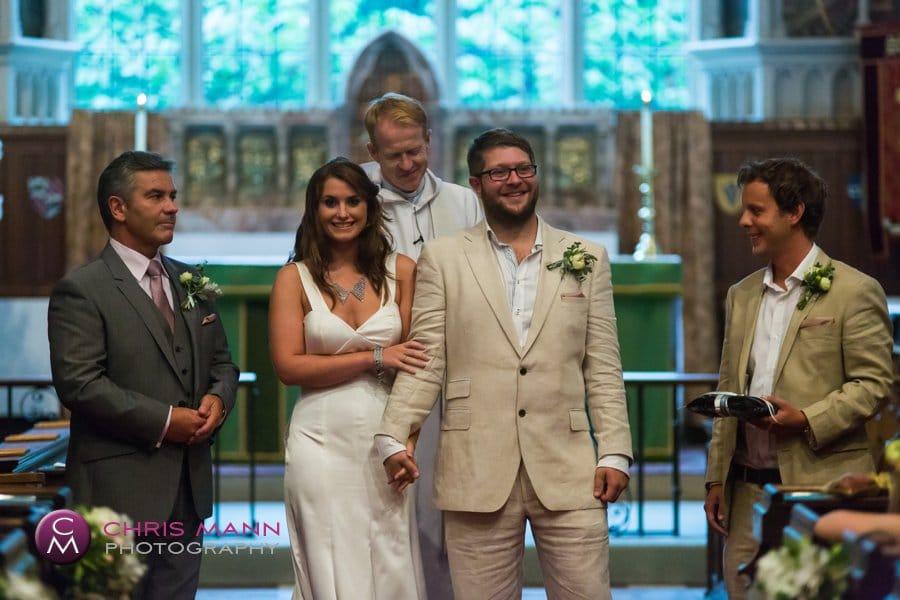 Cranleigh church wedding the happy couple