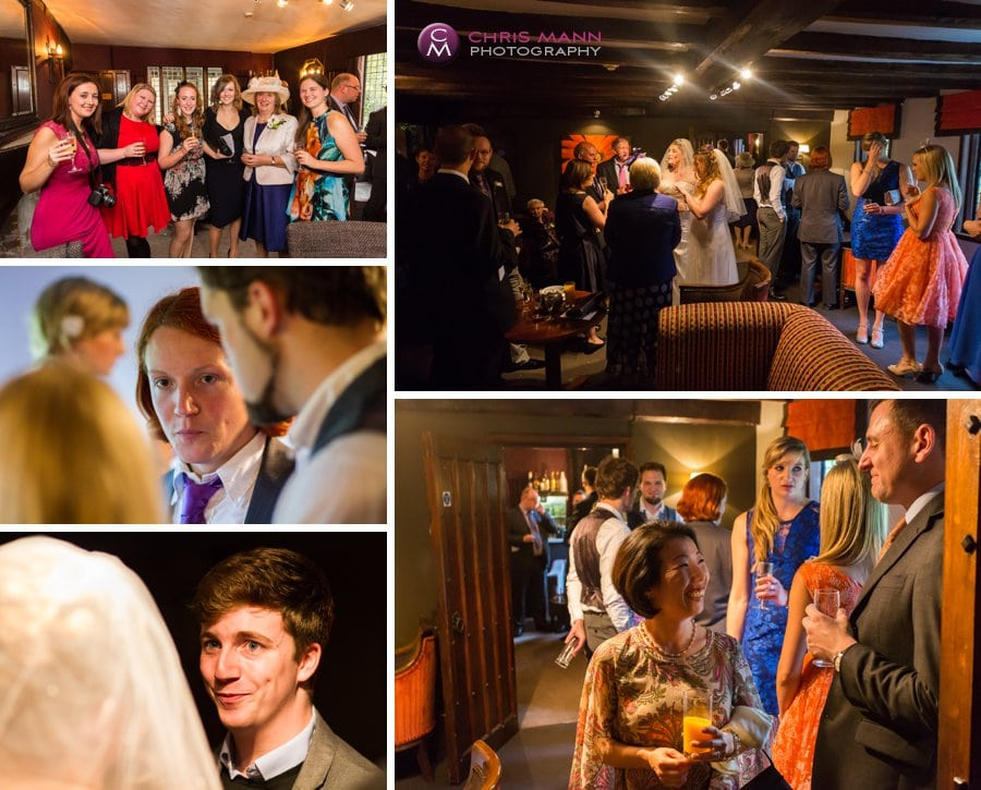 montage guests at wedding reception langshott manor