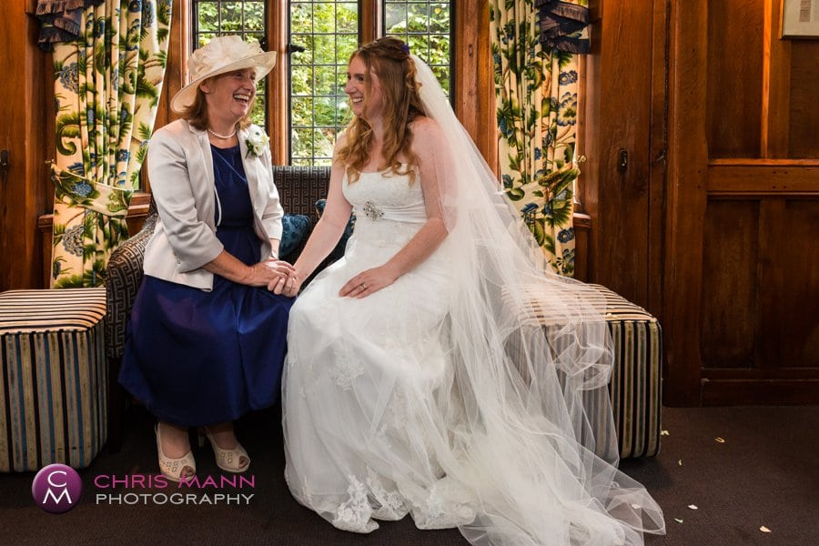bride with mother wedding langshott manor