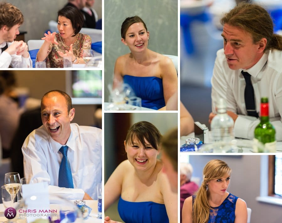 montage guests at wedding breakfast langshott manor