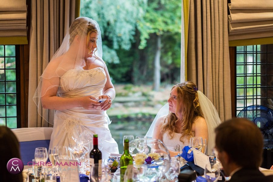 bride makes speech at wedding breakfast