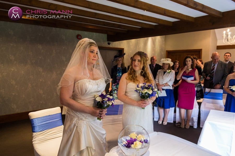 civil ceremony in mulberry room langshott manor surrey