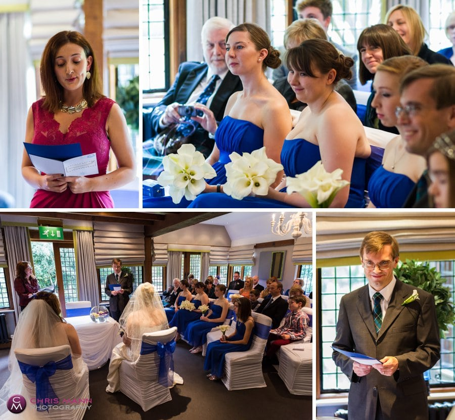readings at civil ceremony langshott manor surrey wedding
