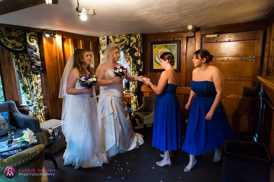 brides and bridesmaids