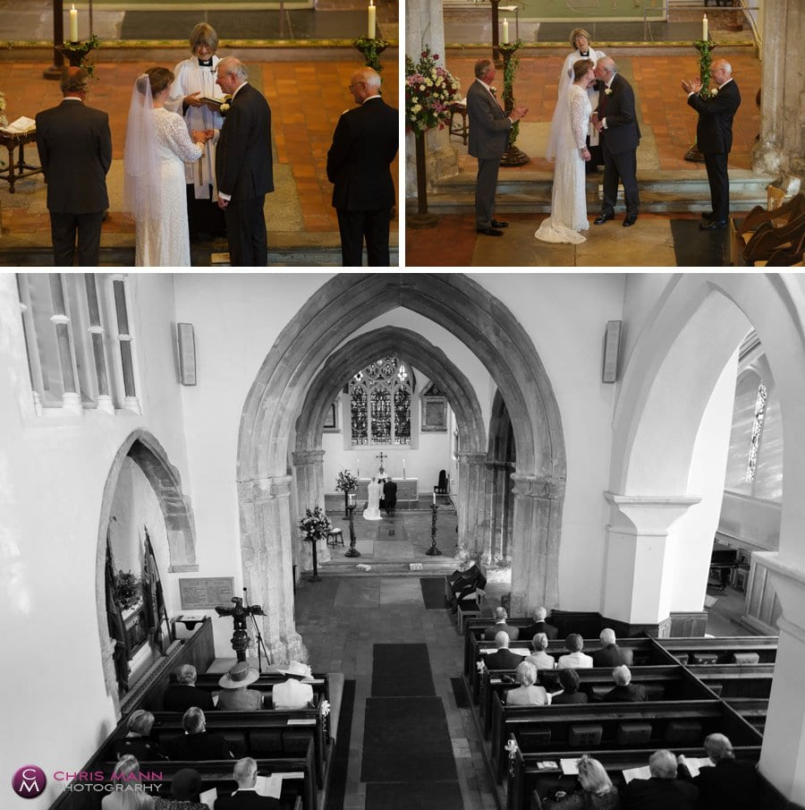 wedding service st james church shere surrey