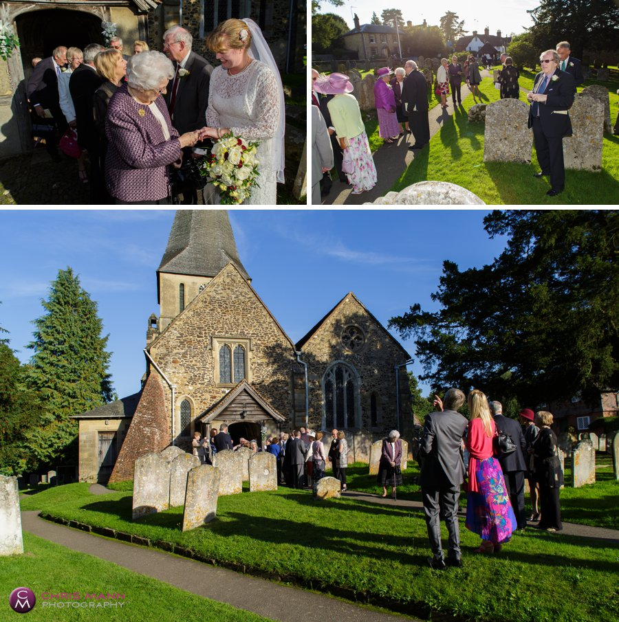 wedding photos in churchyard st james shere