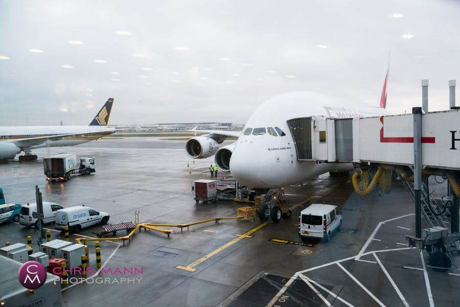 Airbus A380-800 Emirates Airlines Heathrow