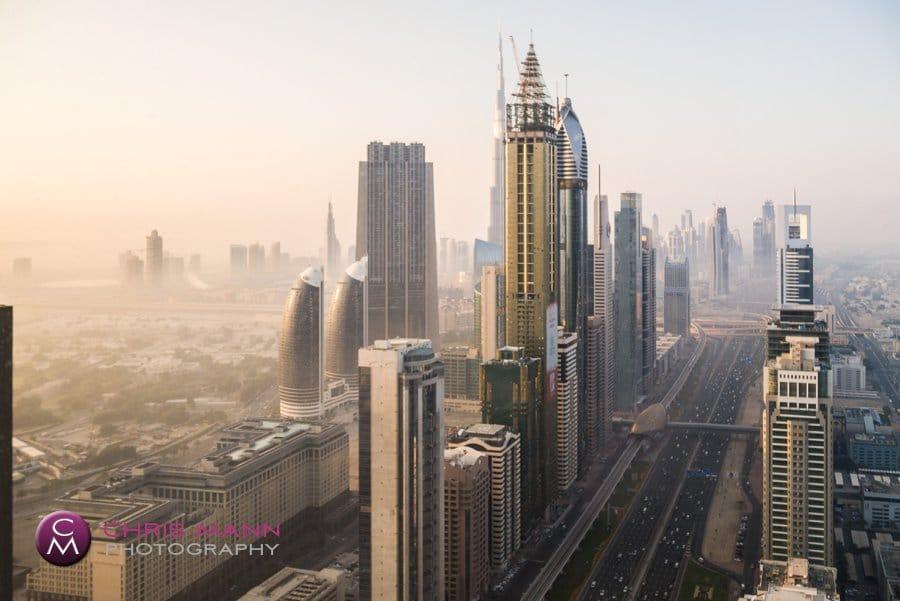 Dubai cityscape from Millennium Plaza Hotel 57th floor