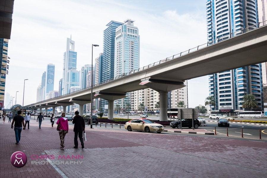 Dubai Metro elevated rail system