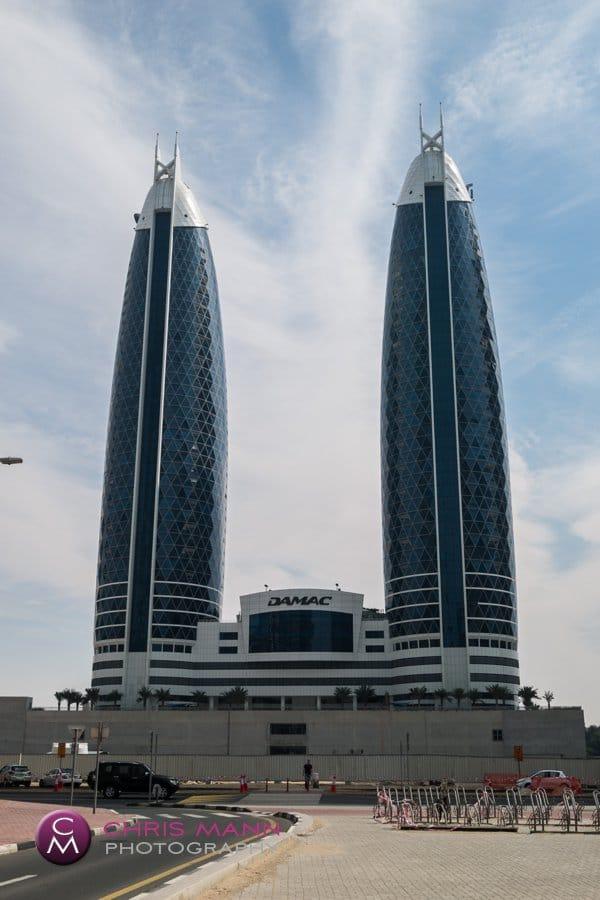 modern architecture financial district Dubai
