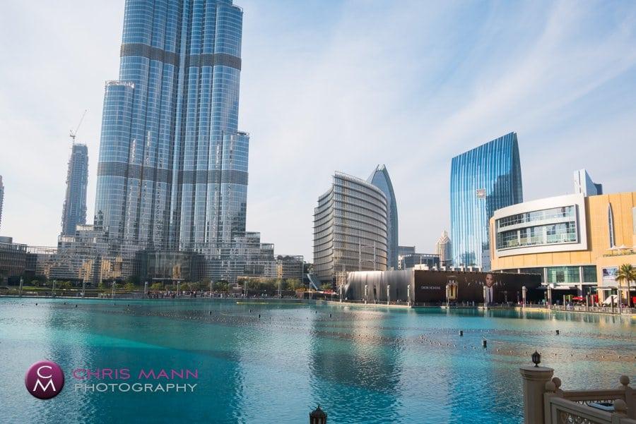 Dubai mall fountain pool