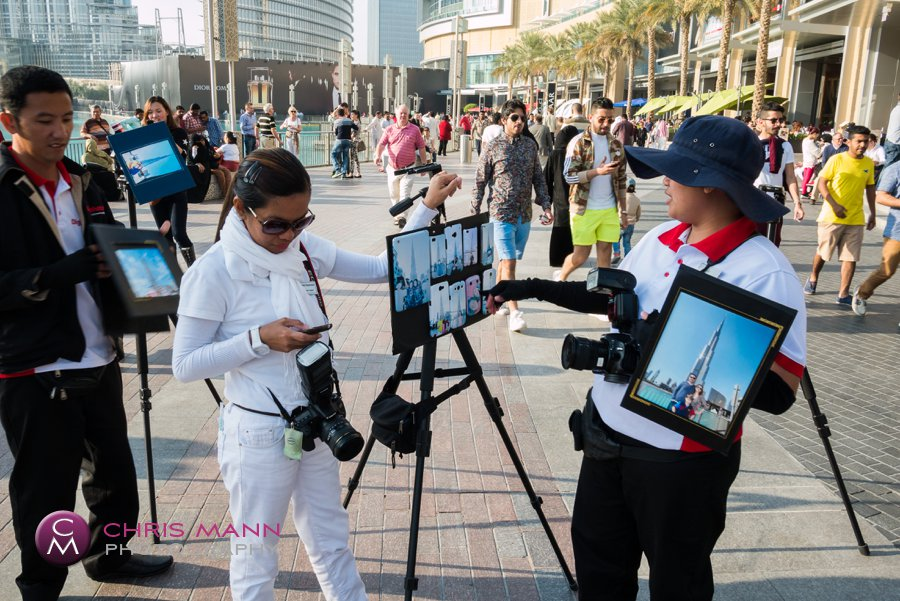 photographers at Dubai Mall