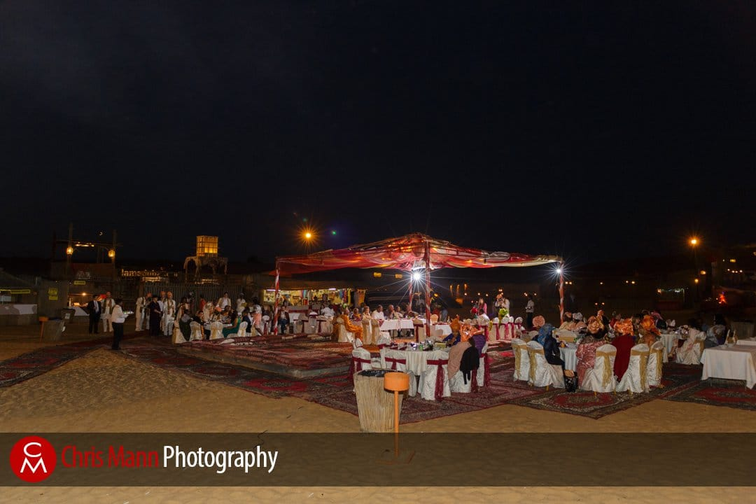 night-time african wedding gets under way in Dubai