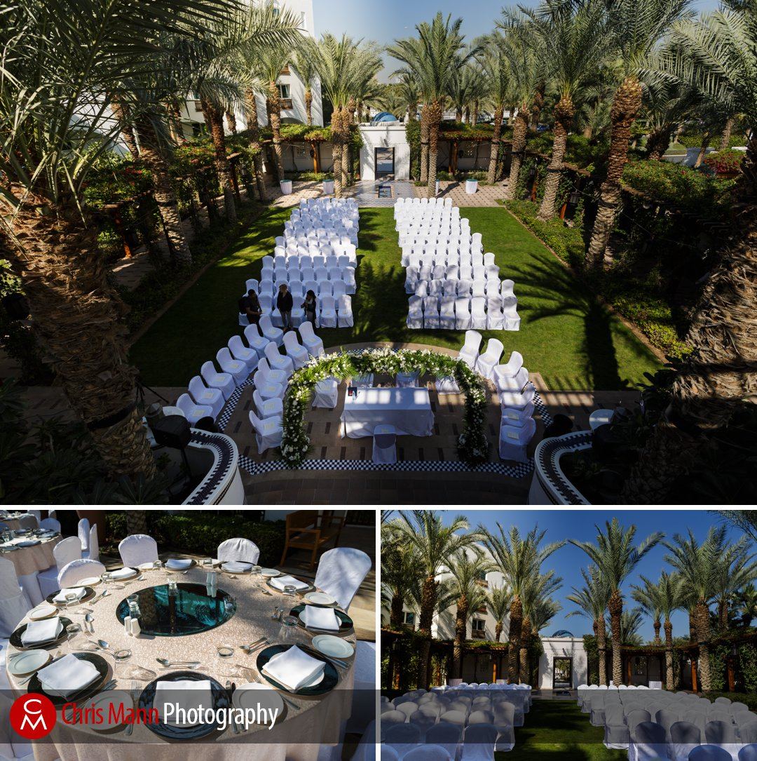 chairs laid out for wedding ceremony at Park Hyatt Dubai