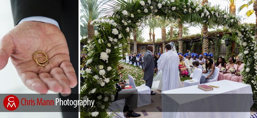 wedding rings and ceremony in progress at Park Hyatt Dubai